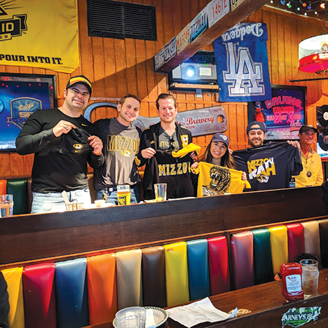 Missouri fans will catch this week's Georgia game at Barney's Beanery in Westwood. (photo courtesy of Marcus Johnson)