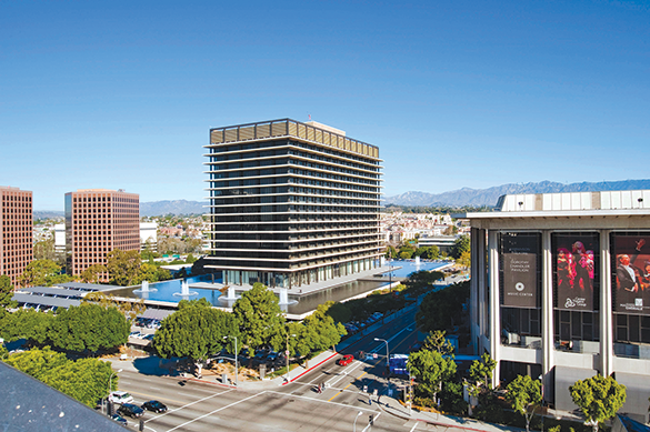 The John Ferraro Building recently became the first building in California to achieve a LEED Zero Energy rating. (photo courtesy of LADWP)