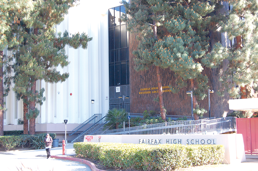 With Laurel Span School no longer an option for the West Hollywood-Fairfax Academy, Fairfax High School is likely to be the recommended site. (photo by Edwin Folven)