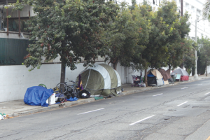 Homelessness in Los Angeles increased by 16% this year. (photo by Cameron Kiszla)