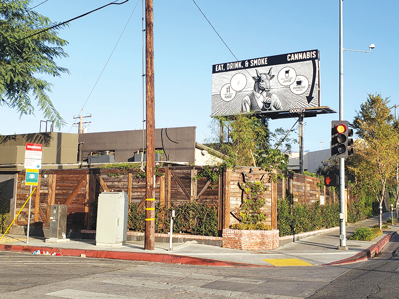 Lowell Café on La Brea Avenue is the only consumption lounge that's open for business in West Hollywood. (photo by Cameron Kiszla)