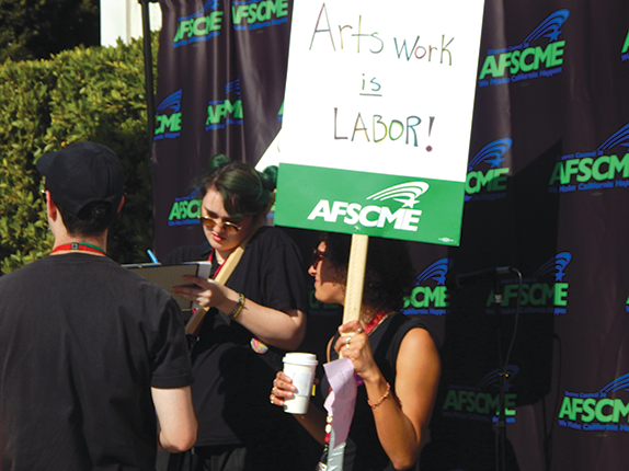AFSCME, which assisted the Marciano Art Foundation unionization effort earlier this month, is working with the MOCA employees as well. (photo by Cameron Kiszla)
