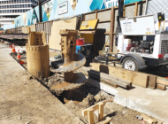 Street restoration continues before piling stops for the holidays in Beverly Hills