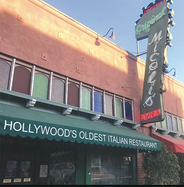 A Hollywood tradition, Miceli's on N. Las Palmas is the oldest Italian restaurant in Tinseltown, operating since 1949. Be serenaded by the servers and enjoy Sicilian cuisine. (photo courtesy of Miceli's)