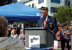 Dave Culmer speaks at WeHo's Veterans Day ceremony
