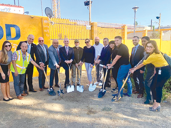 City Councilman Mitch O'Farrell, artists, and city officials celebrate the beginning of work on the Little Armenia Gateway project on Oct. 30. (photo courtesy of the Council District 13 office)