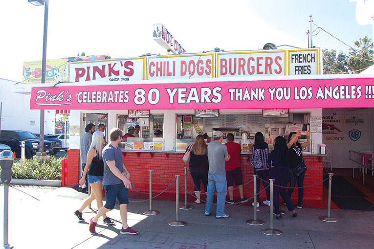 "Pink's Hot Dogs is holding eight days of its ""Chili Dogs for Charity"" program during its 80th anniversary celebration. (photo by Edwin Folven)"
