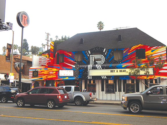 The Roxy Theatre and Rainbow Bar and Grill helped make the Sunset Strip into a famous location in rock 'n' roll history. (photo by Cameron Kiszla)