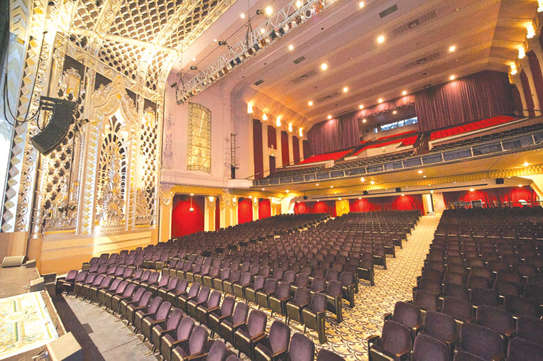 The Saban Theatre in Beverly Hills offers an ornate and intimate setting for the Distinguished Speakers Series. (photo courtesy of the Saban Theatre)