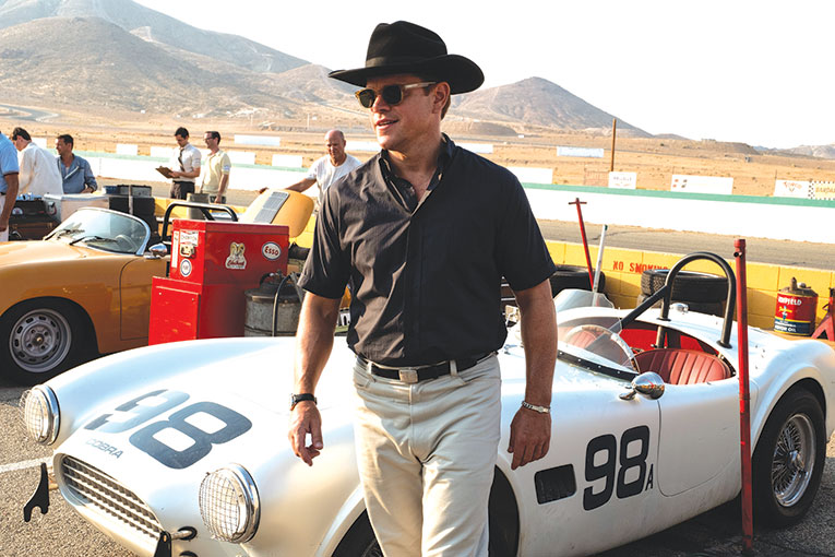 "Carrol Shelby (Matt Damon) is the man who fuels Ford's dream of winning Le Mans in ""Ford v Ferrari."" (photo courtesy of 20th Century Fox)"