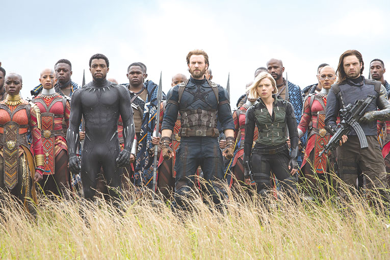 """Earth's mightiest heroes assemble in Marvel's """"Avengers: Infinity War."""" (photo courtesy of Marvel Studios)"""