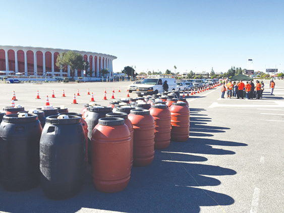 Free rain barrels are available to customers served by the West Basin Municipal Water District. (photo courtesy of West Basin Municipal Water District)