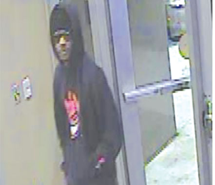 A security camera photograph of the bank robbery suspect has been released by authorities. (photo courtesy of the LAPD)