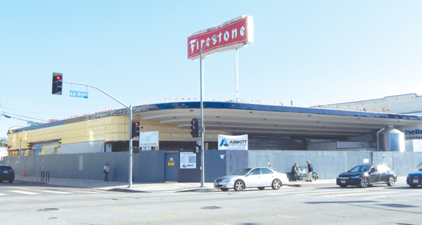 The former Firestone automotive center is being repurposed into a brewery and restaurant. (photo by Edwin Folven)