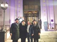 Koretz joins leaders, congregants from Jewish community for City Hall's Hanukkah ceremony