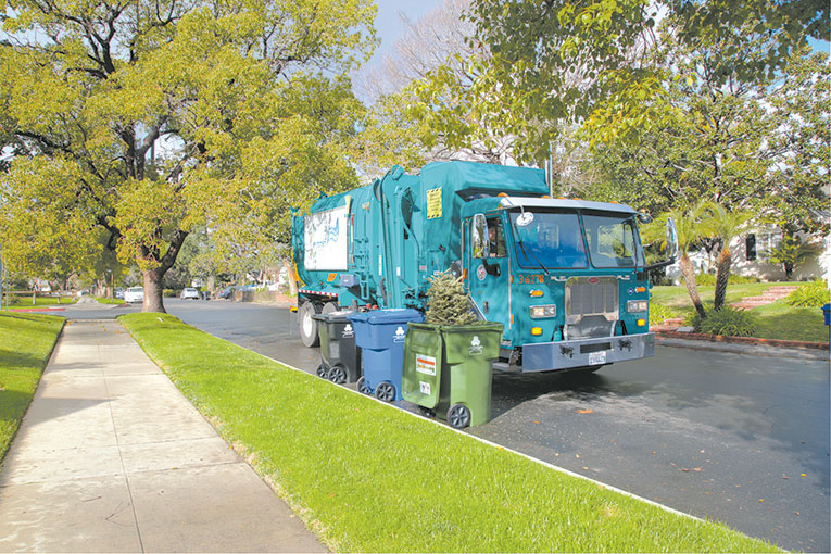 The city of Los Angeles is offering multiple ways to ensure Christmas trees are recycled. (photo courtesy of LA Sanitation)