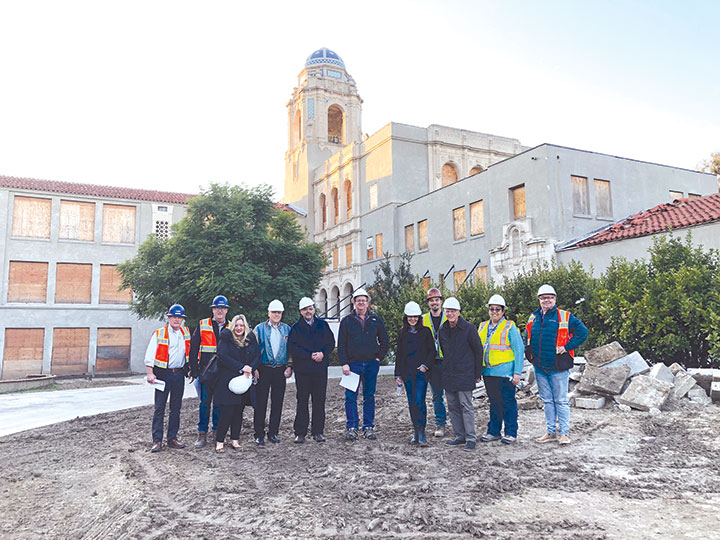 BHUSD and ProWest Constructors held a walkthrough tour on Dec. 19 showcasing renovation progress on El Rodeo School. (photo by Morgan Keith)