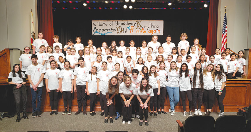 "Students performed songs from popular musicals during the ""Everything Old is New Again"" concert in Beverly Hills. (photo courtesy of the city of Beverly Hills)"