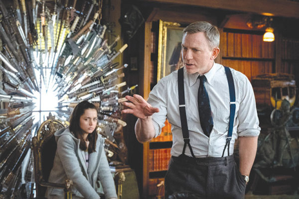 """Daniel Craig as Benoit Blanc and Ana de Armas as Marta are standouts in """"Knives Out."""" (photo courtesy of Lionsgate)"""