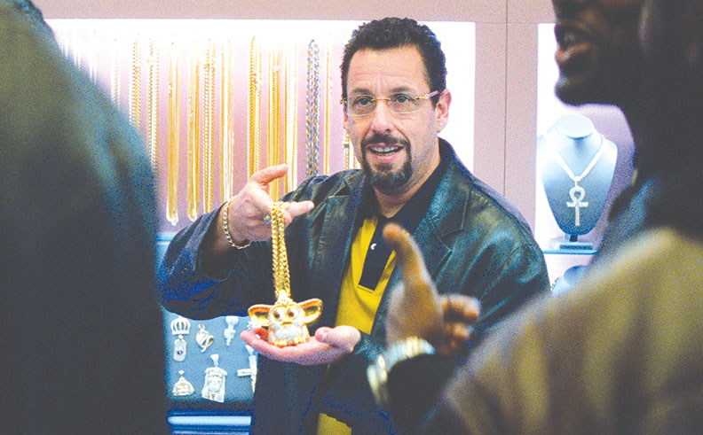 "Adam Sandler's character Howard is hard to like in ""Uncut Gems,"" but the film remains compelling. (photo courtesy of A24)"