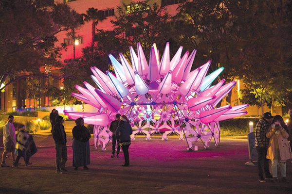"""Winter Glow"" allows attendees to walk through Grand Park, which will be transformed by light and projection technologies. (photo courtesy of Javier Guillen)"