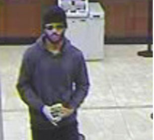 Police released a security camera image of the suspect dubbed the 20K Bandit inDecember. The alleged suspect was arrested on Jan. 13. (photo courtesy of the LAPD)
