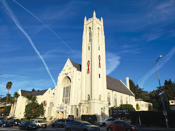 Hollywood Methodist is located just north of the intersection of Hollywood Boulevard and Highland Avenue. (photo by Cameron Kiszla)
