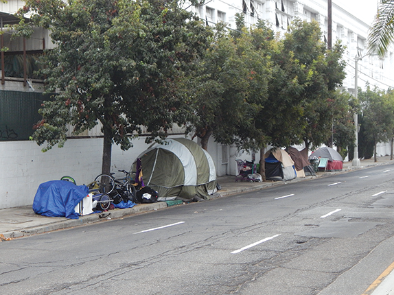 Last year's Greater Los Angeles Homeless Count showed double-digit increases in the city and county's homeless populations. (photo by Cameron Kiszla)