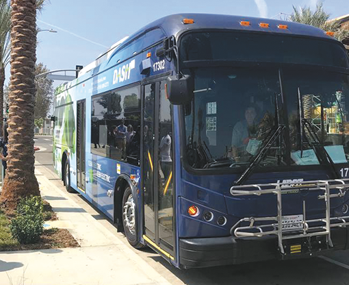 LADOT expanded DASH bus services in 2019, including a new line to the Griffith Observatory. (photo courtesy of LADOT)