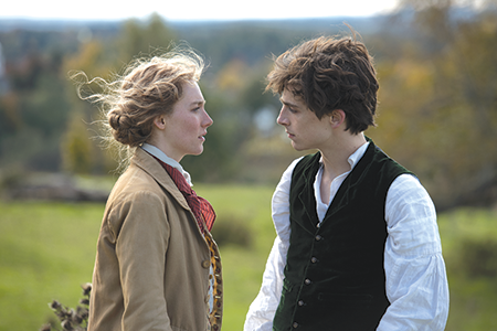 photo by Wilson Webb/© 2019 CTMG Jo March (Saoirse Ronan) turns down a marriage proposal from her best friend Laurie (Timothée Chalamet), swearing they would be unhappy. (photo by Wilson Webb/© 2019 CTMG)