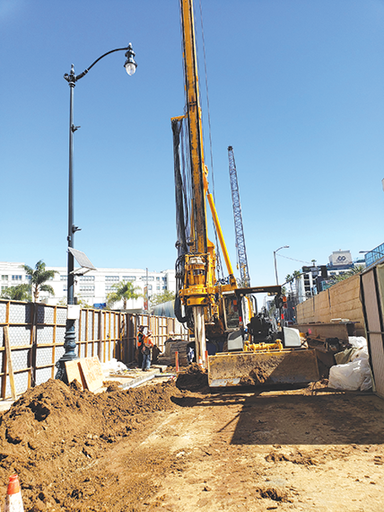 Streets are being reconfigured in Beverly Hills in advance of piling, which is expected to begin on Jan. 13. (photo courtesy of Metro)