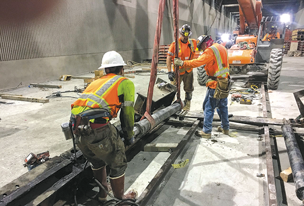 Work is progressing on Metro's Regional Connector.The project is anticipated to be complete in 2022. (photo courtesy of Metro)