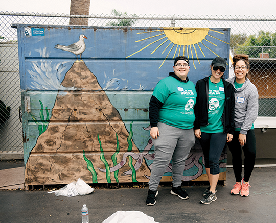 West Hollywood has held an annual day of service on MLK Day for nearly a decade. This year, volunteers beautified West Hollywood Elementary School. (photo courtesy of the city of West Hollywood)