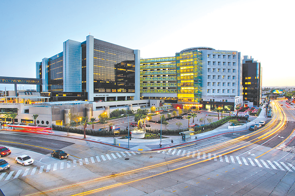 Cedars-Sinai Medical Center, 8700 Beverly Blvd., is one of many nonprofit hospitals in Los Angeles that offers low-cost and no-cost financial assistance to patients. (photo courtesy of Cedars-Sinai)