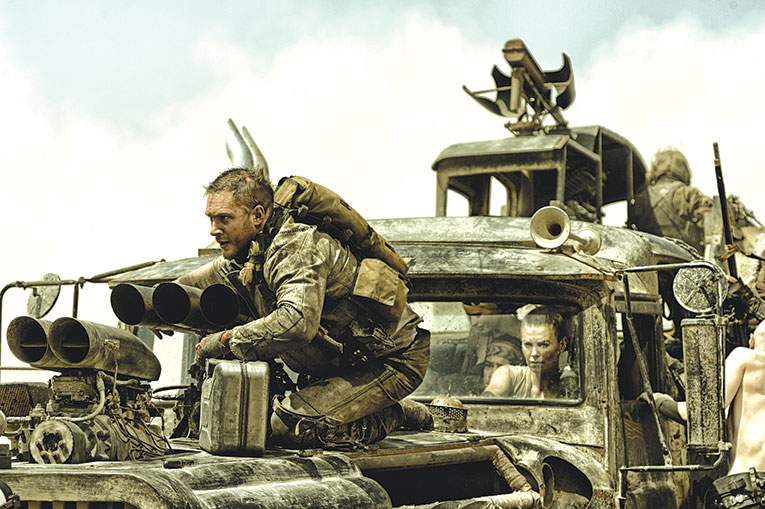"Tom Hardy stars as the title character in ""Mad Max: Fury Road,"" one of the author's favorite films of the last decade. (photo courtesy of Warner Bros. Pictures)"