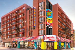Amoeba Music selected the El Centro complex on Hollywood Boulevard for its new home. (rendering courtesy of Amoeba Music)