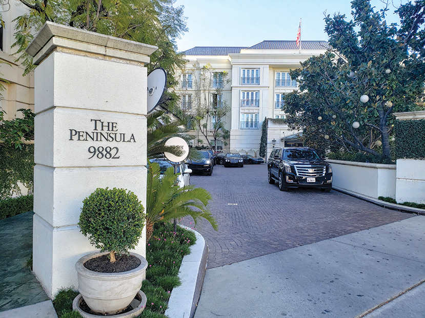 The ownership of the Peninsula Beverly Hills hotel worried the nearby mixed-use project might hurt their business. (photo by Cameron Kiszla)