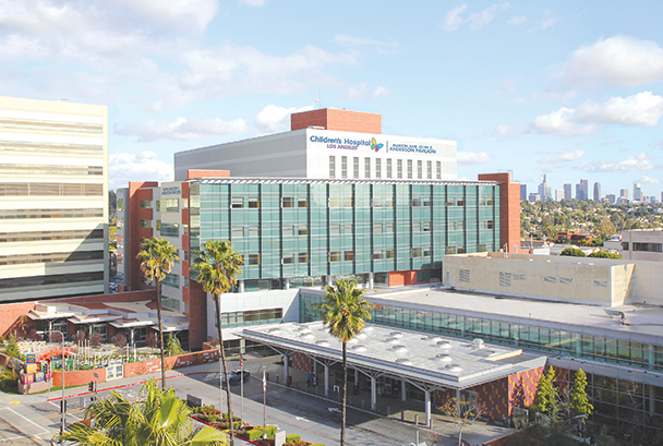 Children's Hospital Los Angeles will rename the driveway at its 4650 Sunset Blvd. campus as the Margie and Robert E. Petersen Entry Plaza. (photo courtesy of CHLA)