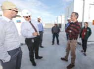 Garcetti tours solar power plant