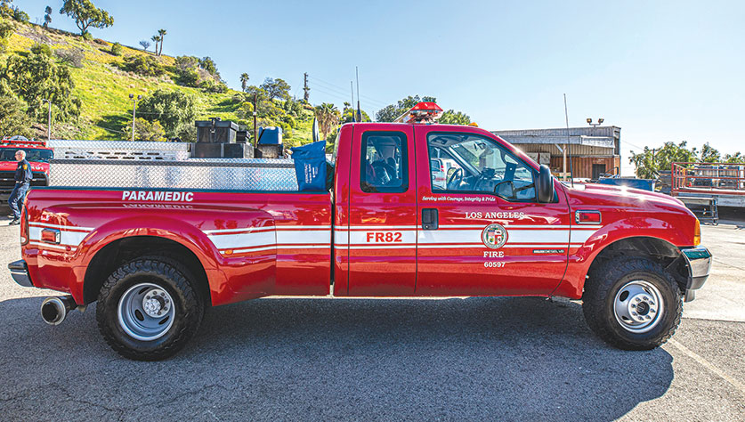 The Los Angeles Fire Department has launched its newest fast-response vehicle, which will be assigned to the Hollywood area and will help reduce response times to call for service. (photo courtesy of Mayor Eric Garcetti's office)