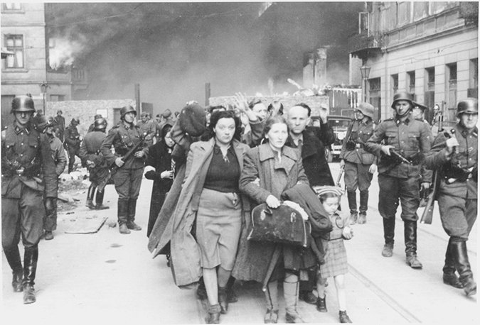 A historic photograph shows the conditions Jews were forced to endure in the Warsaw Ghetto. (photo courtesy of LAMOTH)