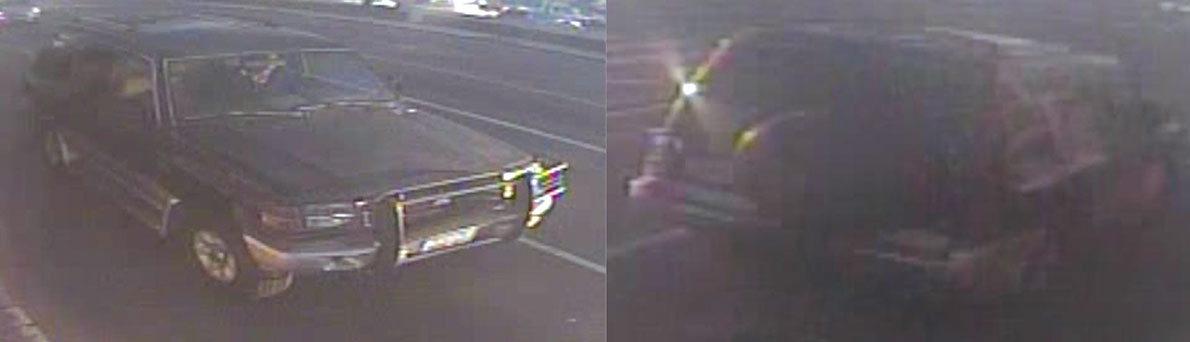 Police release security camera images of the vehicle allegedly involved in the JHIt-and-run on La Brea Avenue. (photo courtesy the LAPD)