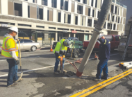 Work on piling progresses in Beverly Hills