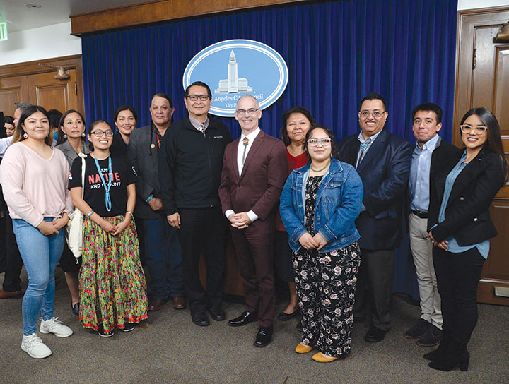 Councilman Mitch O'Farrell hosted Navajo President Jonathan Nez and members of the Navajo Nation in council on Feb. 19. (photo courtesy of Councilman Mitch O'Farrell's office)