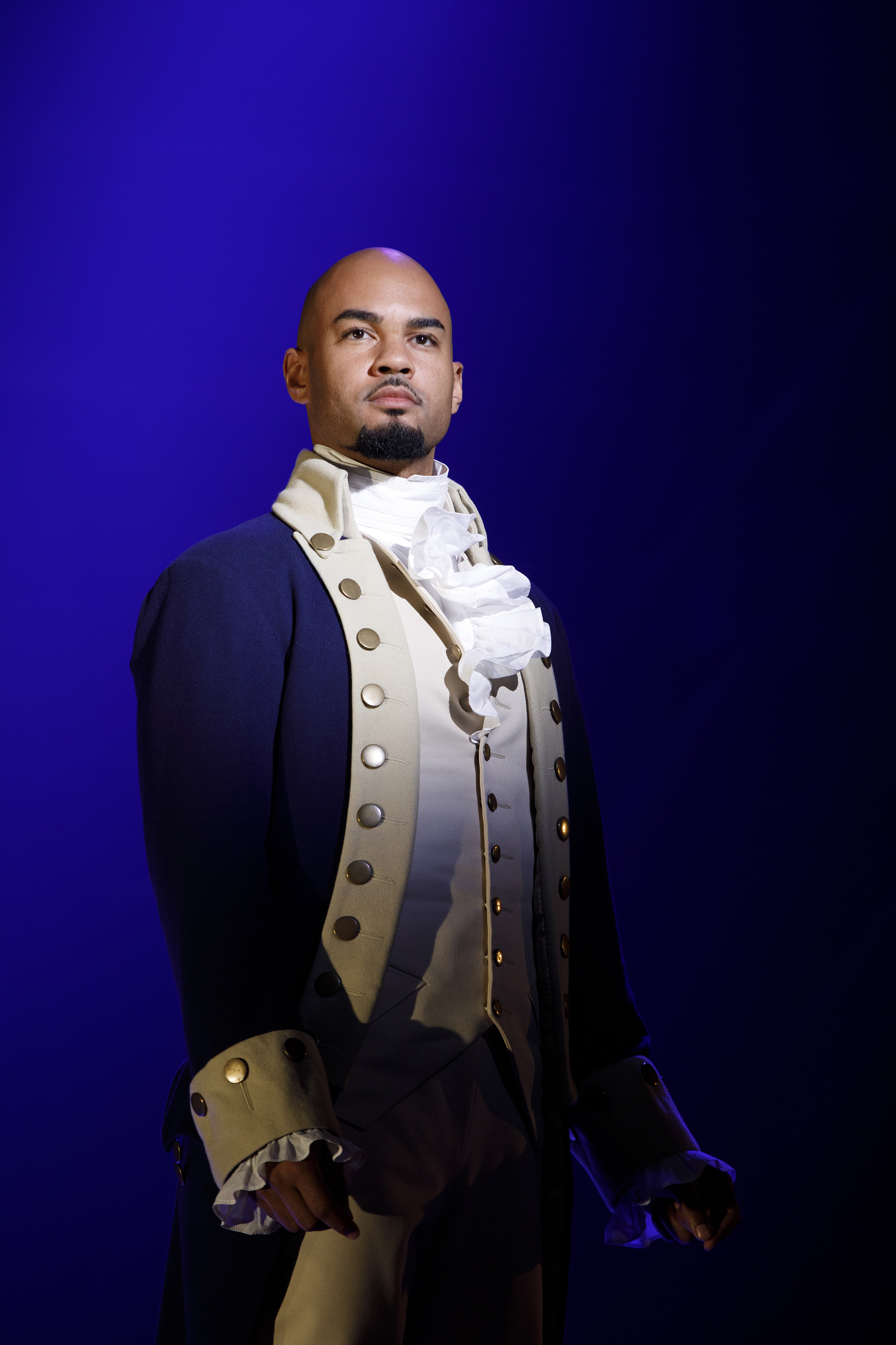 """icholas Christopher plays Aaron Burr for the Los Angeles engagement of """"Hamilton."""" (photo by Joan Marcus/courtesy of Johnny Gilmour from Baseline Theatrical)"""