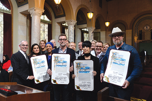 City Councilman Mitch O'Farrell honored locally produced Academy Award nominees in the ninth-annual Made in Hollywood Honors. (photo courtesy of the Council District 13 office)