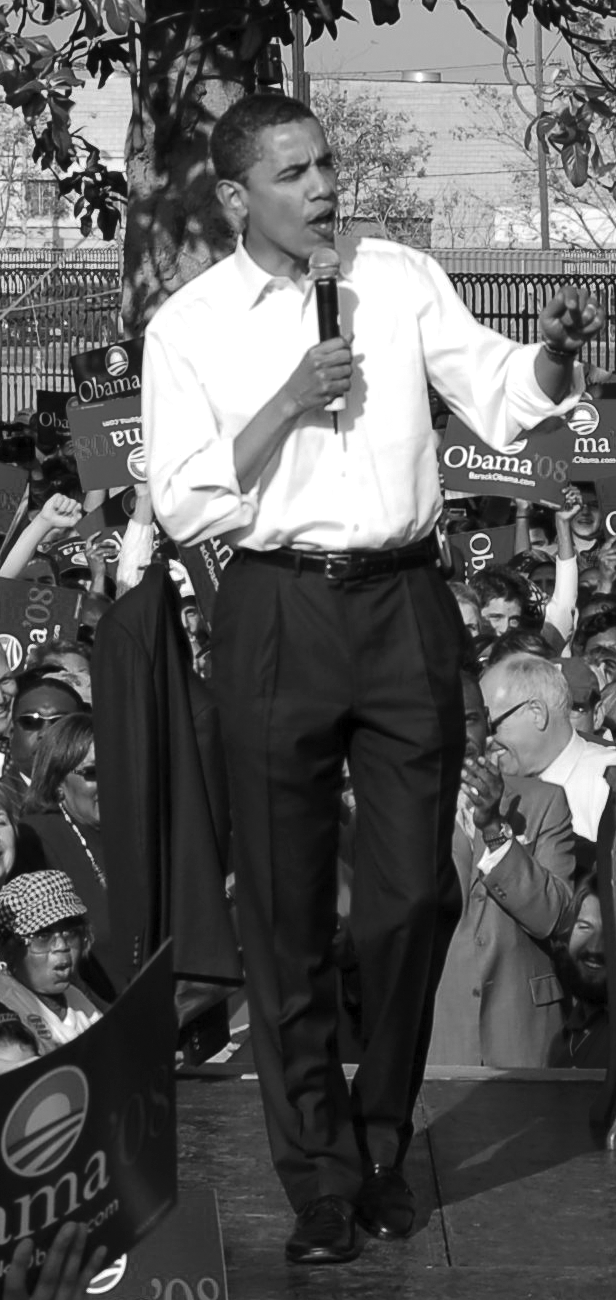 Former President Barack Obama campaigned at Rancho Cienega Park for the 2008 election. He won in 2008 and again in 2012.  (photo by Edwin Folven)