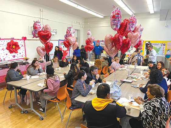 Parents, staff and LAUSD administrators came together at the new parent center at Vine Street Elementary School. (photo by Edwin Folven)