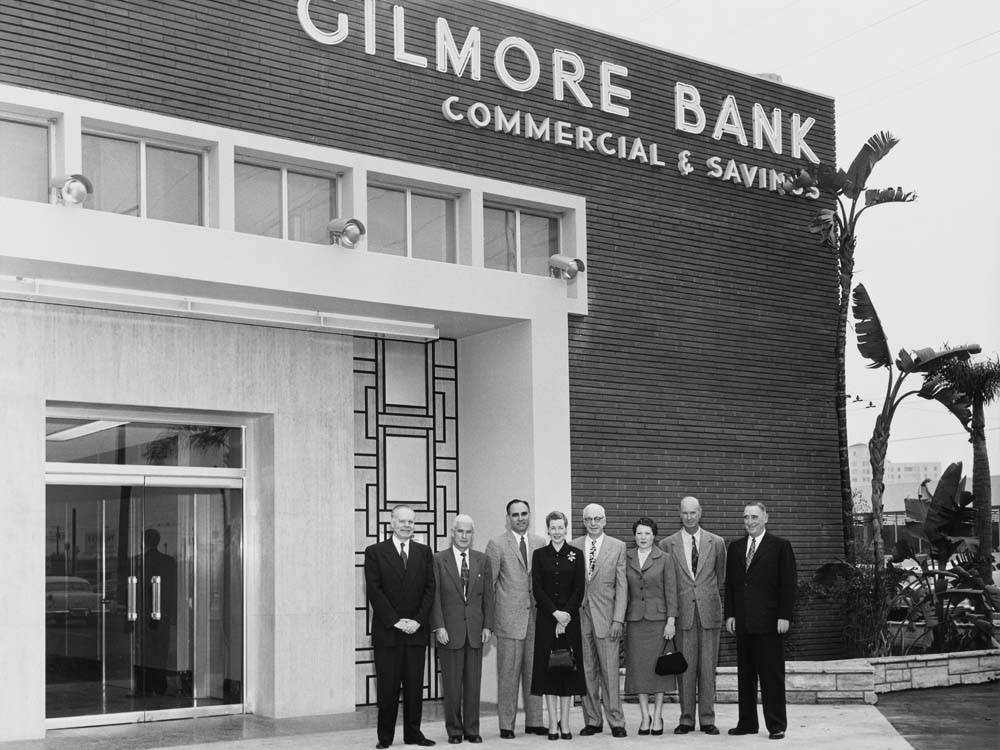 Land owned by the Gilmore Co. evenutally became The Grove, where Gilmore Bank and Mordigan's Nursey were once located. (Park Labrea News/Beverly Press archives)