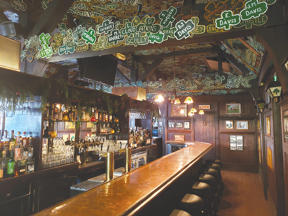 The historic Irish pub Tom Bergin's will host a St. Patrick's Day party from 6 a.m. on March 17 to 1 a.m. on March 18. (photo by Cameron Kiszla)
